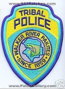 WALKER RIVER TRIBAL  POLICE PATCH