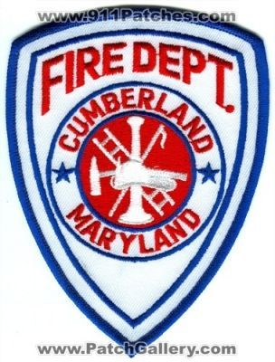 Maryland - Cumberland Fire Department Patch (Maryland