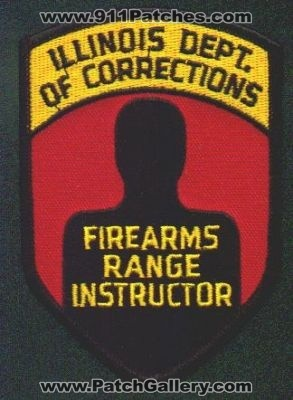 Illinois Department Of Corrections Firearms Range Instructor Patch