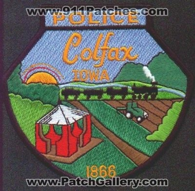 Iowa Colfax Police Patchgallerycom Online Virtual Patch