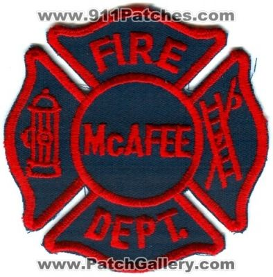 New Jersey - McAfee Fire Department (New Jersey) - PatchGallery com