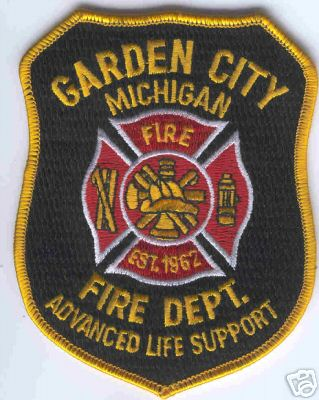 Michigan Garden City Fire Dept Online Virtual Patch Collection By