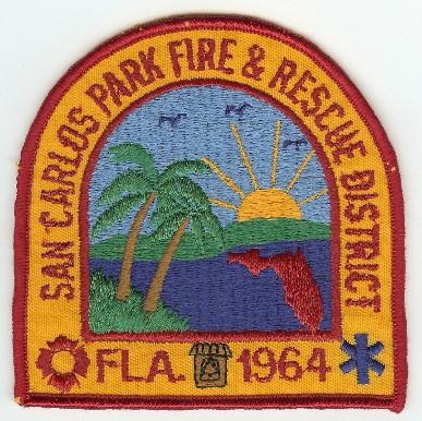 """Florida fire patch 4/"""" x 4/"""" size San Carlos Park  Fire Rescue District"""