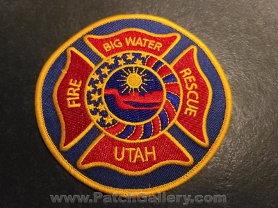 Big Water Fire Rescue Department Patch (Utah)