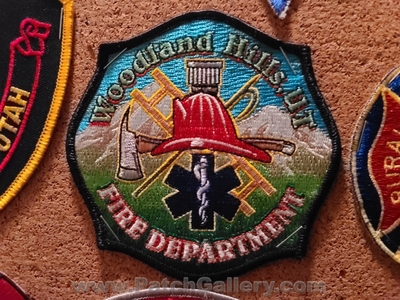 Woodland Hills Fire Department Patch (Utah)