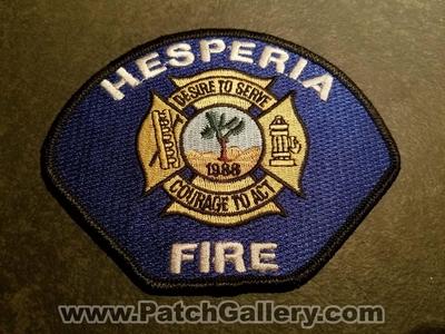 California - Hesperia Fire Department Patch (California