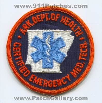 Arkansas Certified Emergency Medical Technician EMT Patch (Arkansas)