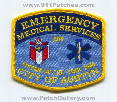Austin Emergency Medical Services EMS Patch (Texas)