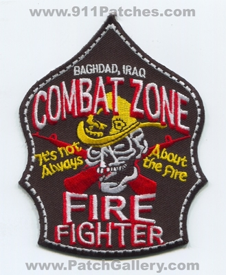 Baghdad Fire Department Combat Zone Firefighter OIF Military Patch (Iraq)