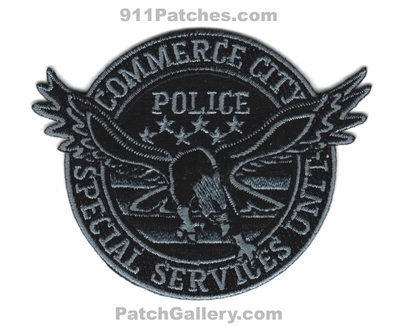 Commerce City Police Department Special Services Unit SSU Patch (Colorado)