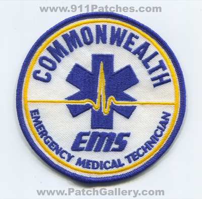 Commonwealth Emergency Medical Services EMS EMT Patch (Massachusetts)