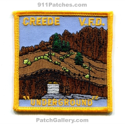 Creede Volunteer Fire Department Patch (Colorado)