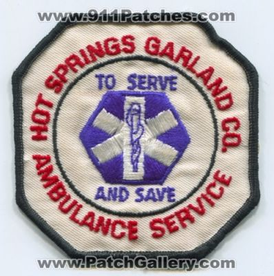 Hot Springs Garland County Ambulance Services (Arkansas)