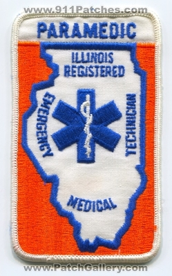 Illinois State Registered Emergency Medical Technician EMT Paramedic EMS Patch (Illinois)