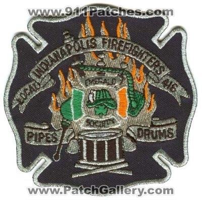 Indianapolis Public Safety Pipes /& Drums Fire EMS Police Patch