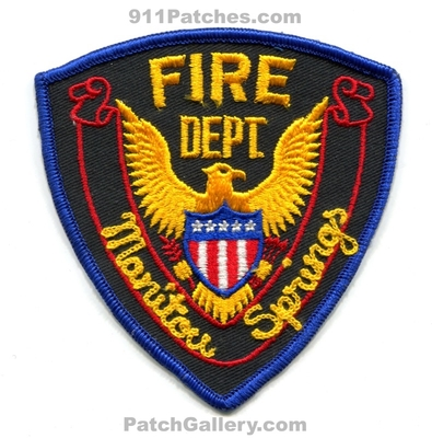 Manitou Springs Fire Department Patch (Colorado)