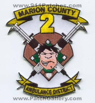 Marion County Ambulance District 2 EMS Patch (Missouri)