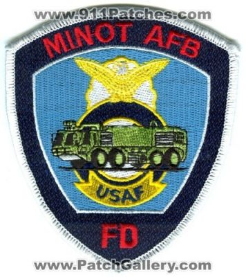 Minot Air Force Base AFB Fire Department Patch (North Dakota)