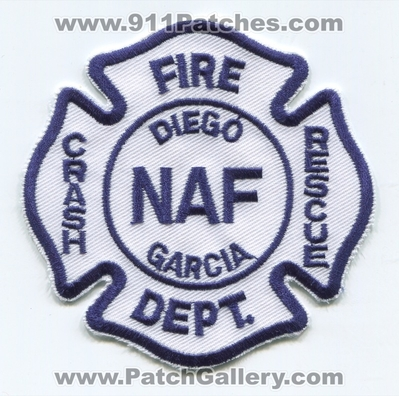 Naval Air Facility NAF Diego Garcia Crash Fire Rescue CFR Department Military Patch (United Kingdom - British Indian Ocean Territories)