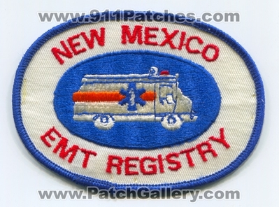 New Mexico EMT Registry Patch (New Mexico)