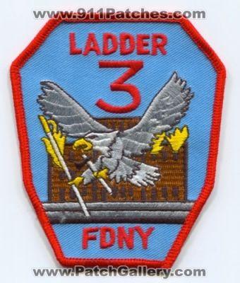 New York City Fire Dept Ladder 3 Patch