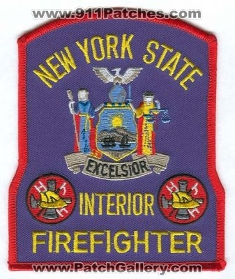 New york state interior firefighter patch