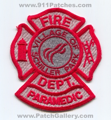 Schiller Park Fire Department Paramedic Patch (Illinois)