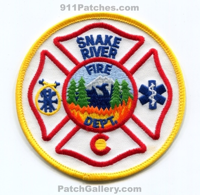 Snake River Fire Department Patch (Colorado) (Defunct)