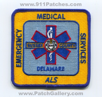 Sussex County Emergency Medical Services EMS ALS Patch (Delaware)