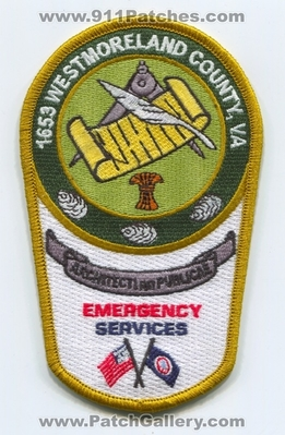 Virginia - Westmoreland County Emergency Services ES Patch (Virginia