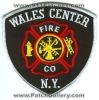 Wales Center Fire Department Logo