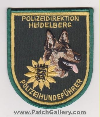 Germany - Heidelberg Police Agency - Police Dog Leader