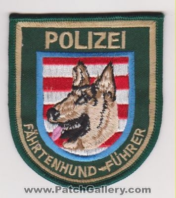 Germany - Police Tracking Dog (Germany) - PatchGallery com